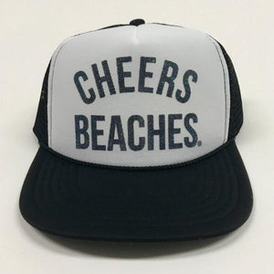 "Cheers Beaches Accessories ""Cheers Beaches"" Foam Trucker Hat: Black & White"