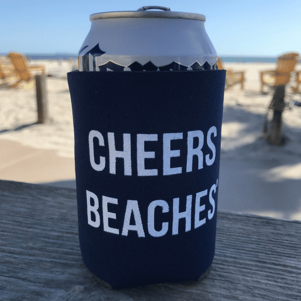 Cheers Beaches Accessories Cheers Beaches® Navy Blue Can Cooler