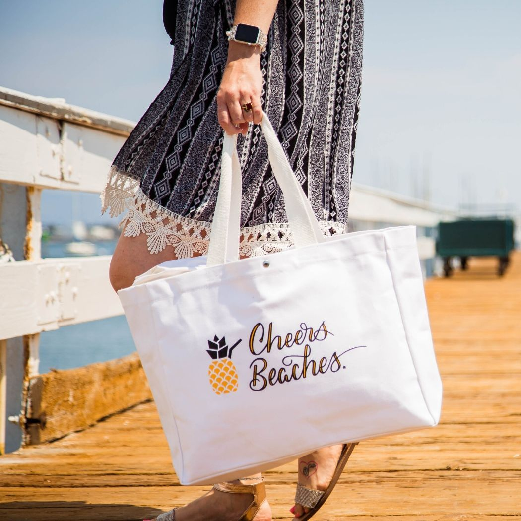 Cheers Beaches Accessories Cheers Beaches Pineapple Tote Bag