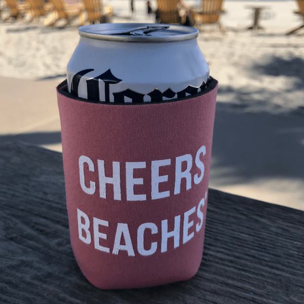 Cheers Beaches Accessories Cheers Beaches® Pink Can Cooler
