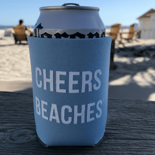 Cheers Beaches Accessories Cheers Beaches® Powder Blue Can Cooler