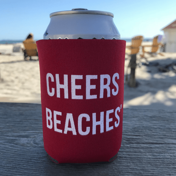 Cheers Beaches Accessories Cheers Beaches® Red Can Cooler