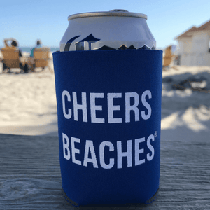 Cheers Beaches Accessories Cheers Beaches® Royal Blue Can Cooler