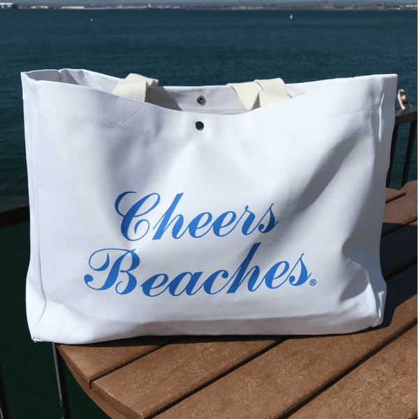 Cheers Beaches Accessories Cheers Beaches Tote Bag: Carolina Blue