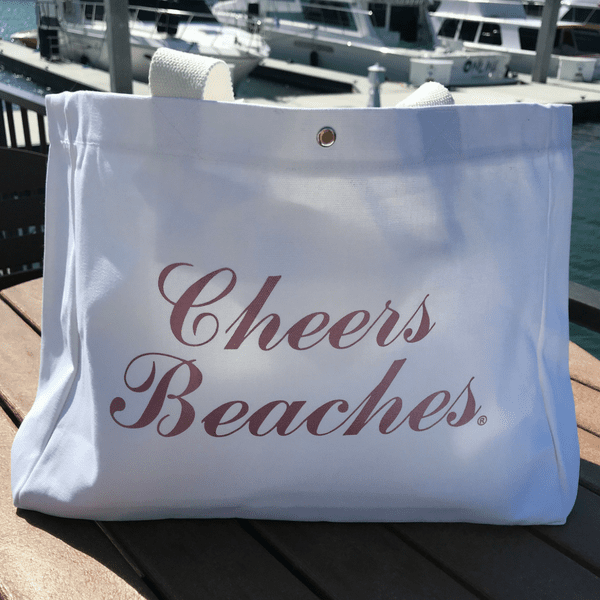 Cheers Beaches Accessories Cheers Beaches Tote Bag: Metallic Pink