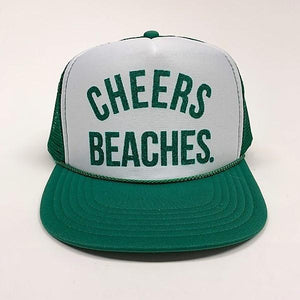 "Cheers Beaches Accessories ""Cheers Beaches"" Trucker Hat: Green"