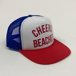 "Cheers Beaches Accessories ""Cheers Beaches"" Trucker Hat: Red, White & Blue"
