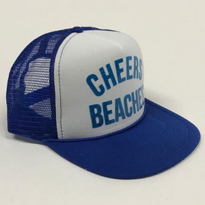 "Cheers Beaches Accessories ""Cheers Beaches"" Trucker Hat: Royal Blue & White"