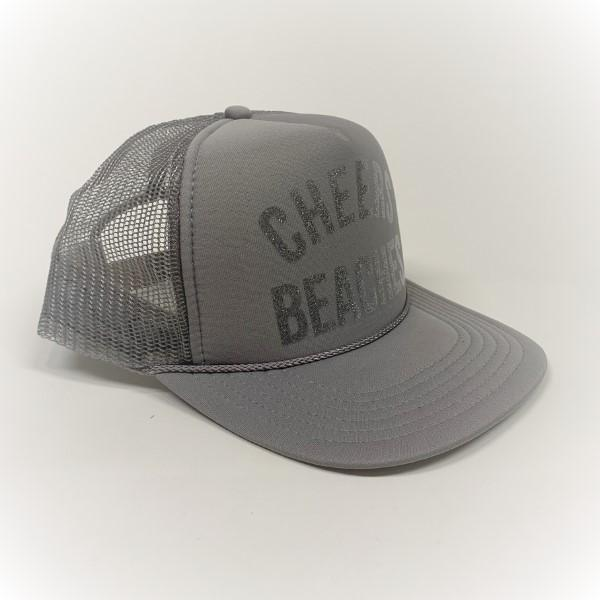 "Cheers Beaches Accessories ""Cheers Beaches"" Trucker Hat: Silver"