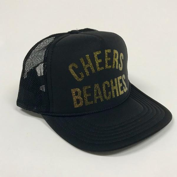 "Cheers Beaches Accessories Copy of California Bear Flag ""Cheers Beaches"" Trucker Hat"