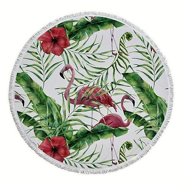 Cheers Beaches Accessories Flamingo Round Towel