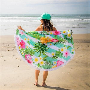 Cheers Beaches Accessories Hidden Pineapple Round Towel