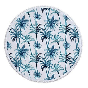 Cheers Beaches Accessories Palm Tree Grove Round Towel