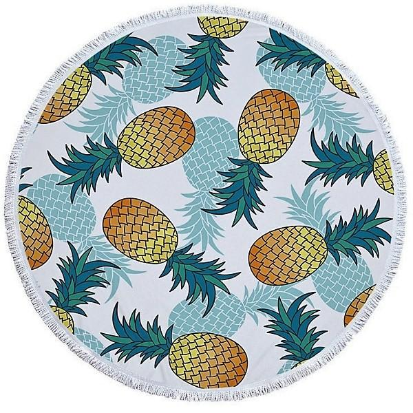 Cheers Beaches Accessories Pineapple Passion Round Towel