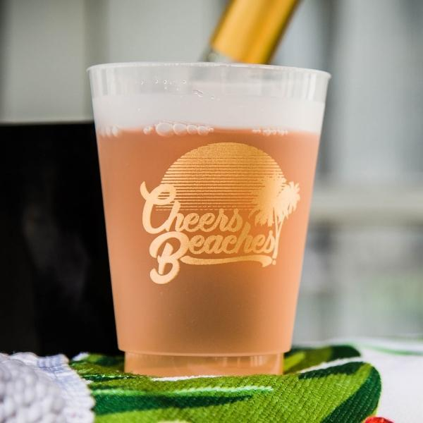 Cheers Beaches Accessories Set of 8 cups Cheers Beaches Sunset Frosted Party Cup: Set of 8