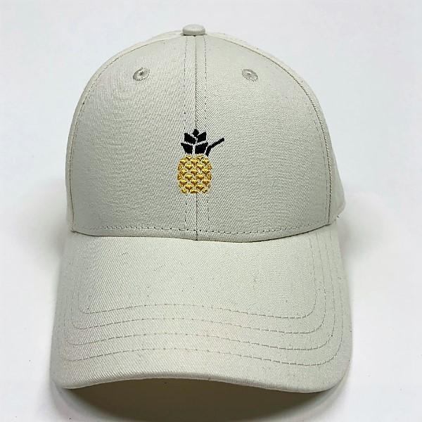 Cheers Beaches Accessories Universal / white Cheers Beaches Embroidered Pineapple Hat: Cream