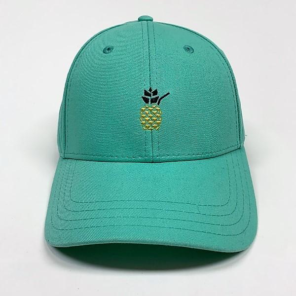 Cheers Beaches Accessories Universal / white Cheers Beaches Embroidered Pineapple Hat: Seafoam
