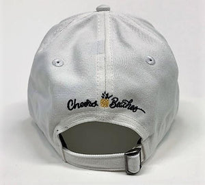 Cheers Beaches Accessories Universal / white Cheers Beaches Embroidered Pineapple Hat: White