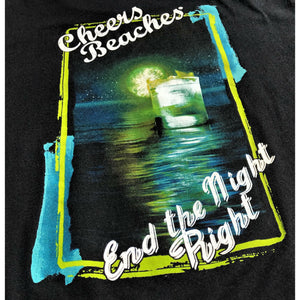 "Cheers Beaches Men Cheers Beaches ""End The Night Right"" T-shirt: Black"