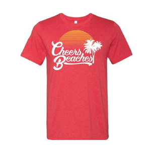 Cheers Beaches Men Cheers Beaches Retro Palm & Sunset Unisex Crew Neck