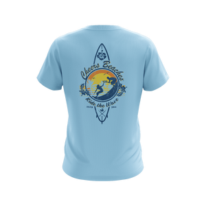 "Cheers Beaches Men Cheers Beaches ""Ride The Wave"" Surfer T-shirt"