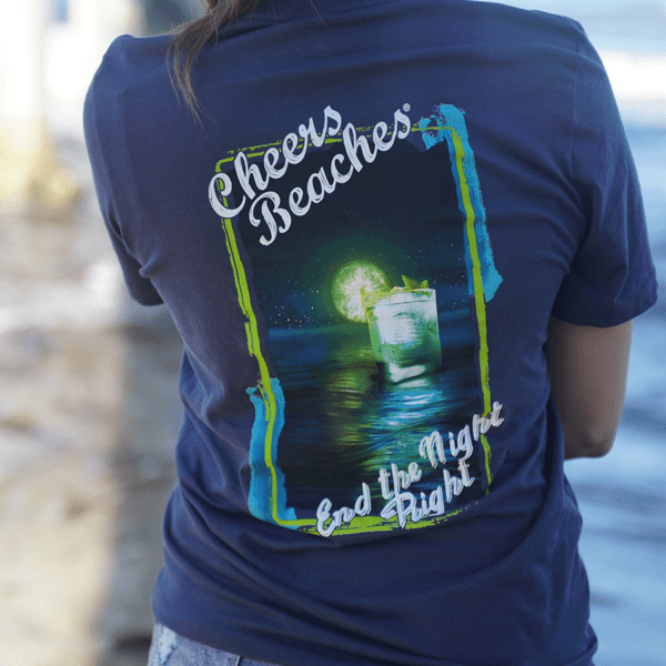 "Cheers Beaches Women Cheers Beaches® ""End The Night Right"" T-Shirt"