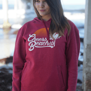 Cheers Beaches Women Cheers Beaches Retro Palm & Sunset Sweatshirt
