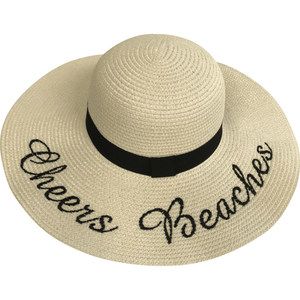 Cheers Beaches Women Cream Cheers Beaches Floppy Sun Hat