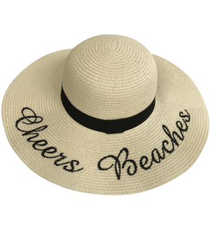 Cheers Beaches Women Cream Cheers Beaches Floppy Sun Hat: Ivory