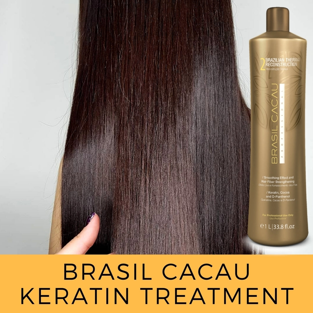 Thermal Reconstruction Keratin Treatment Smoothing Blowout Step 2 bottle only Cadiveu Brasil Cacau - BR KERATIN
