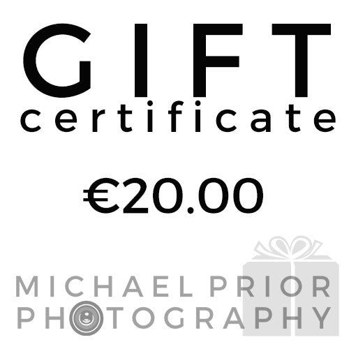 Gift Certificate - Michael Prior Photography - 1