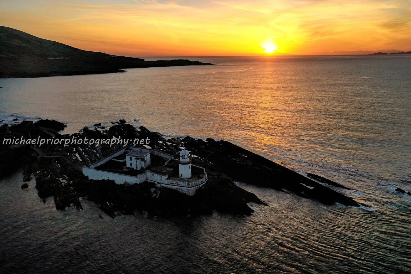 Sunset At Valentia Lighthouse