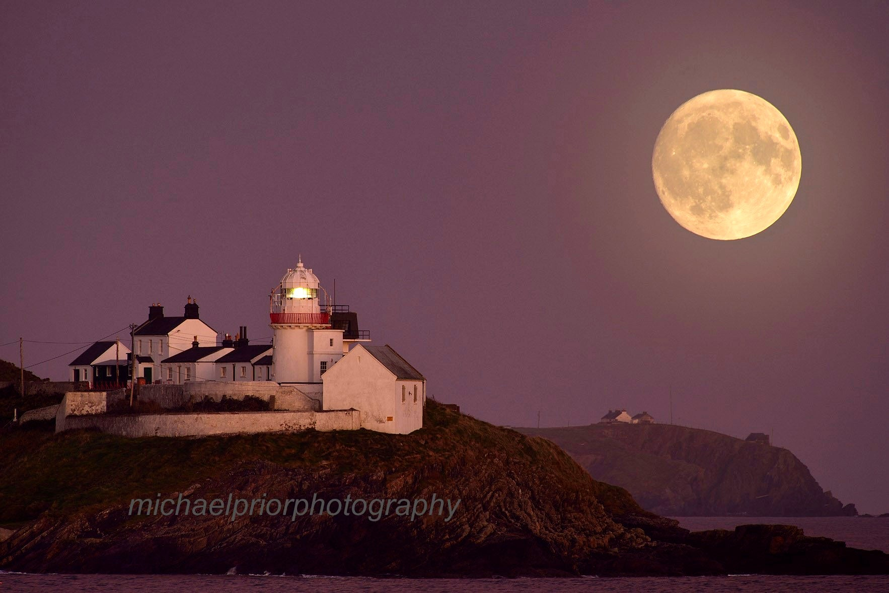 Moonrise Over Roches Point Lighthouse