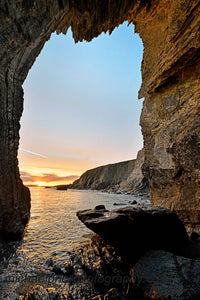 Winter Sunset From Inside An Arch West Of Garretstown, West Cork - Michael Prior Photography