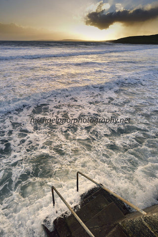 Churning Sea At Garretstown - Sunset - Michael Prior Photography