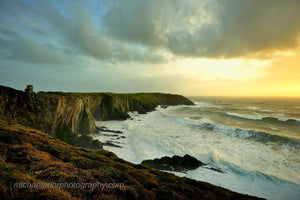 Stormy Sunset At The Oldhead of Kinsale - Michael Prior Photography