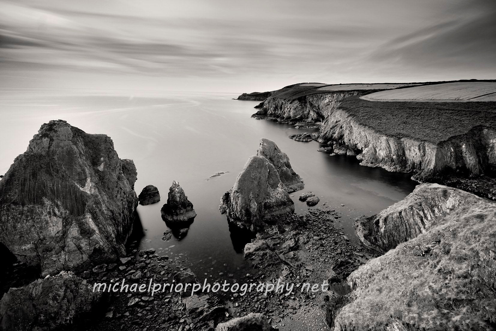Nohoval Cove in Black and White