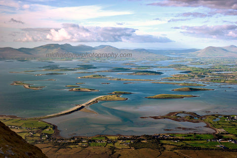 Clew bay co mayo in evening sunshine - Michael Prior Photography