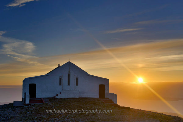 sunset from the top of croagh patrick - Michael Prior Photography