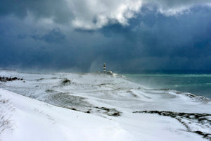 The Oldhead Golf course Under Snow - Michael Prior Photography