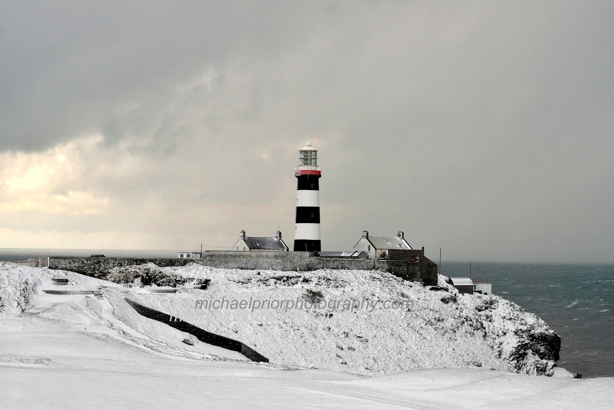 The Old Head Of Kinsale Beneath A Blanket Of Snow - Michael Prior Photography