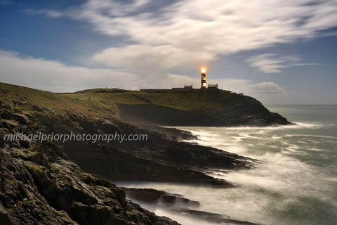 The Oldhead From The Rocks Under A Full Moon - Michael Prior Photography