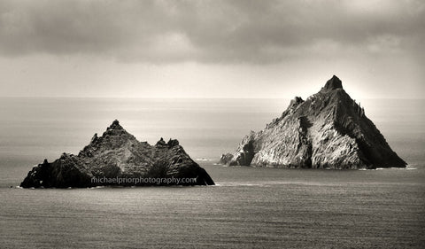 The Skellig Islands In Black And White - Michael Prior Photography