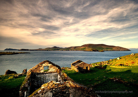 Abandoned Houses On The Blaskets - Michael Prior Photography
