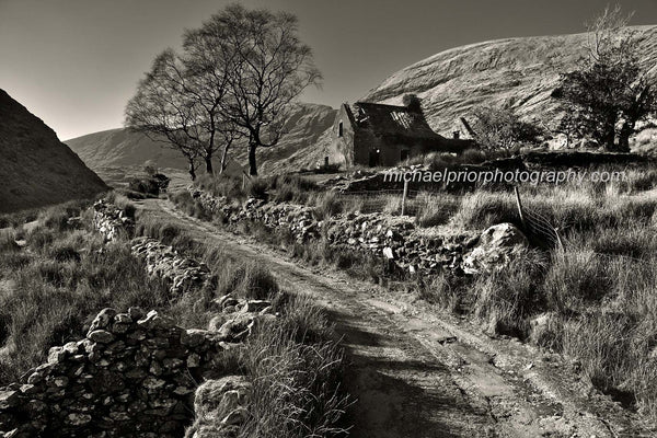 A Ruin In The Black Valley In Black And White - Michael Prior Photography