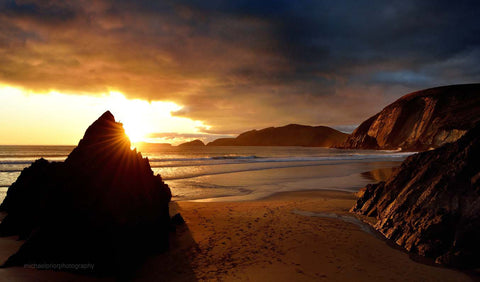 Winter Sunset On Coumeenole - Michael Prior Photography