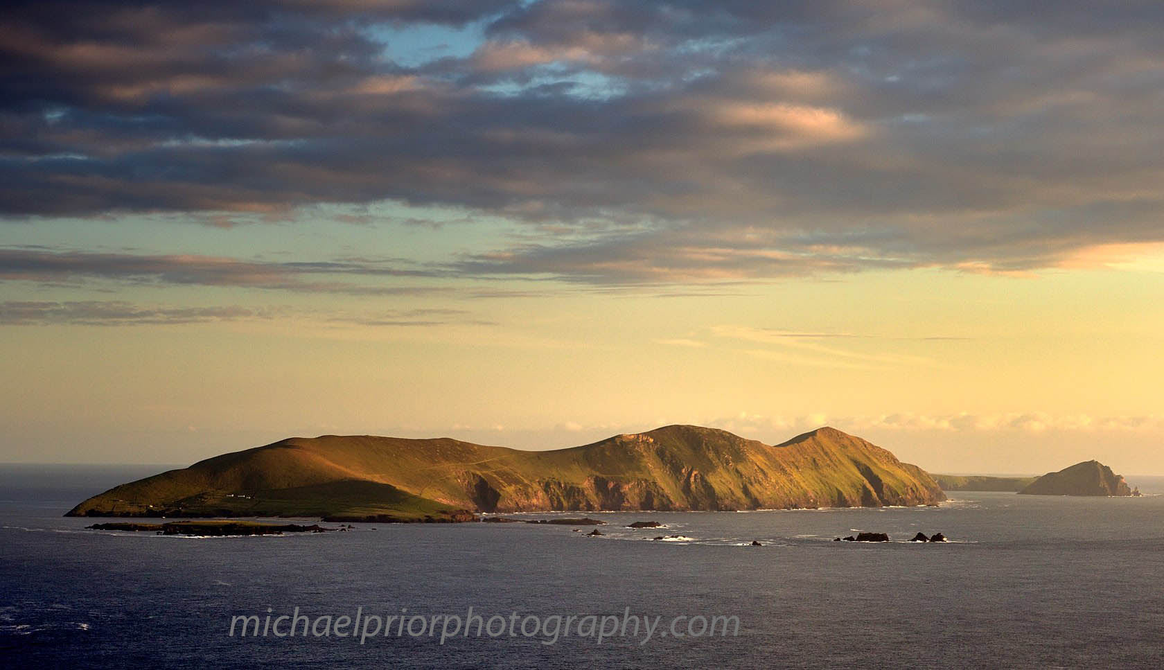 The Great Blasket In Late Summer Sunshine