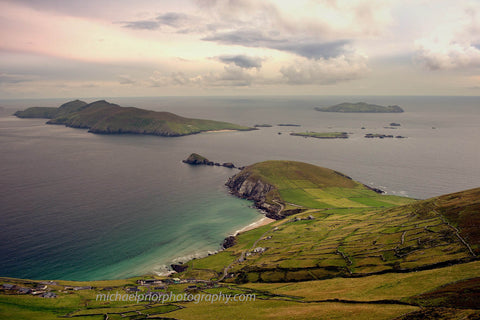 Green Fields And Stones Walls in Slea Head In Kerry, Ireland - Michael Prior Photography