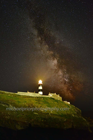 Looking Up At The Oldhead Lighthouse And The Milkyway - Michael Prior Photography