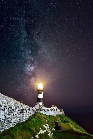 The Oldhead Of Kinsale Under The Milkyway With The White Washed Walls - Michael Prior Photography